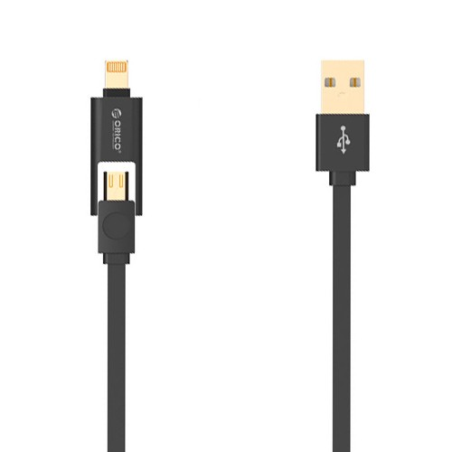 Orico 2 in 1 Cable Lightning & Micro USB 1M LTE-10 - Black
