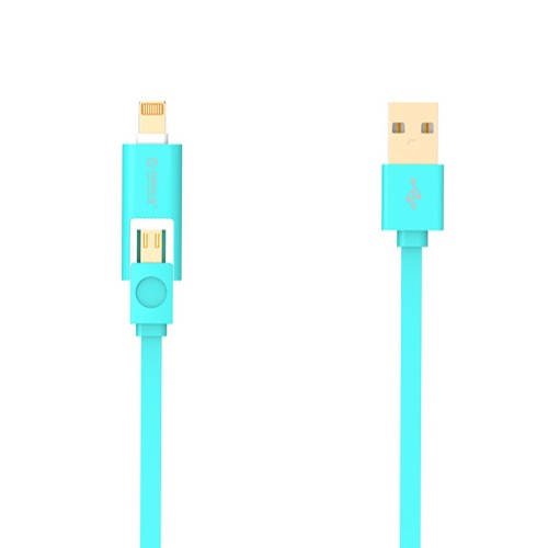 Orico 2 in 1 Cable Lightning & Micro USB 1M LTE-10 - Blue