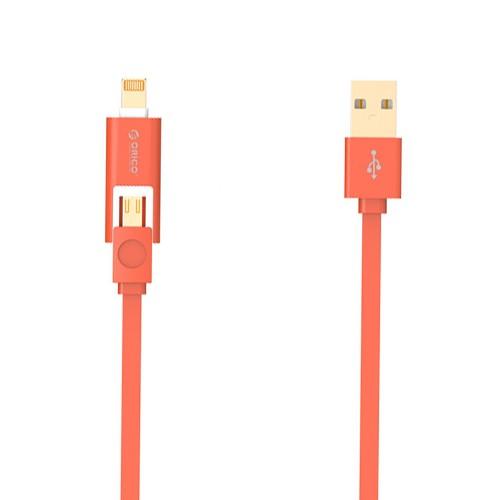 Orico 2 in 1 Cable Lightning & Micro USB 1M LTE-10 - Orange