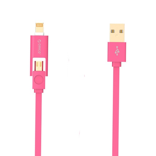 Orico 2 in 1 Cable Lightning & Micro USB 1M LTE-10 - Red