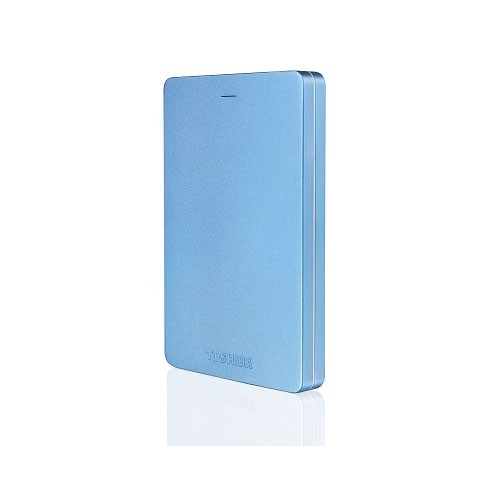 Toshiba Canvio Alumy 3.0 Portable Hard Drive 2TB - Blue