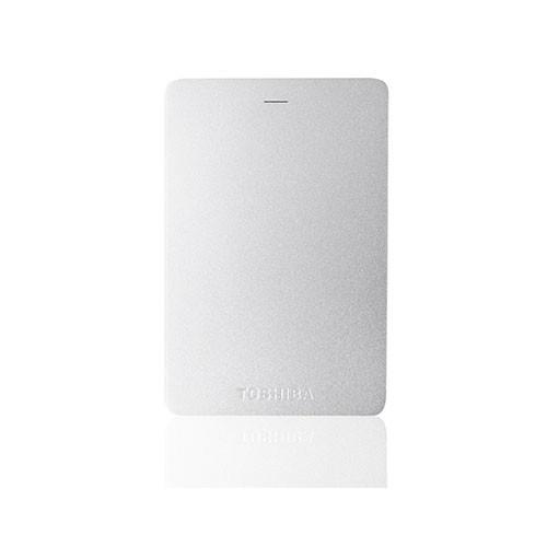 Toshiba Canvio Alumy 3.0 Portable Hard Drive 1TB - Silver