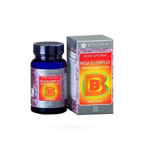 Wellness Mega B Complex - 30 Tabs