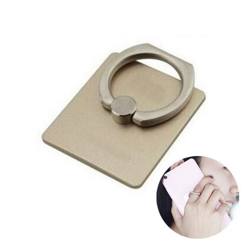 360 Degree Finger Ring Mobile Phone Stand Holder  - Gold