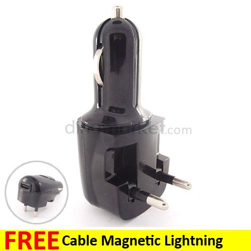 Home & Car Charger 2 in 1 Port PU711 - Black