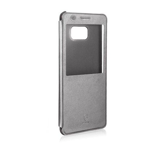 Baseus Sunie Series Leather Case for Galaxy Note FE - Sky Grey