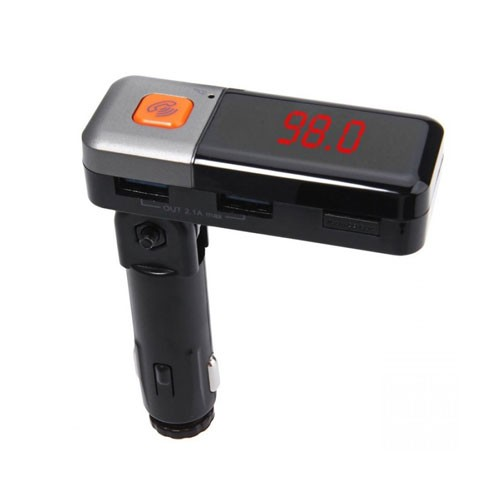 Bluetooth Dual USB Car Charger Hands-free FM Transmitter MP3 Player BC11 - Black