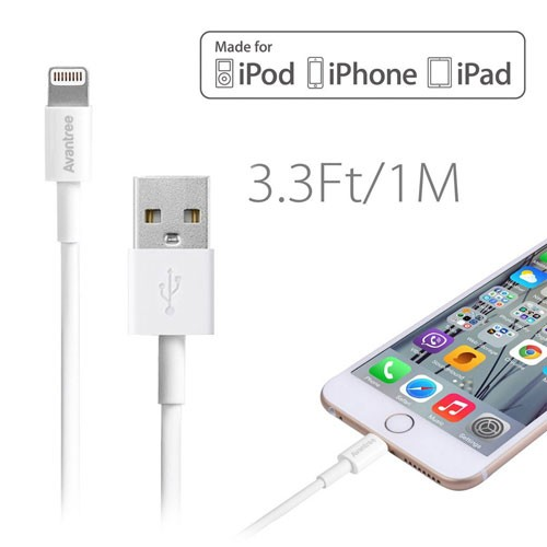 Avantree USB to Lightning Cable 100cm - Swan (MFI)