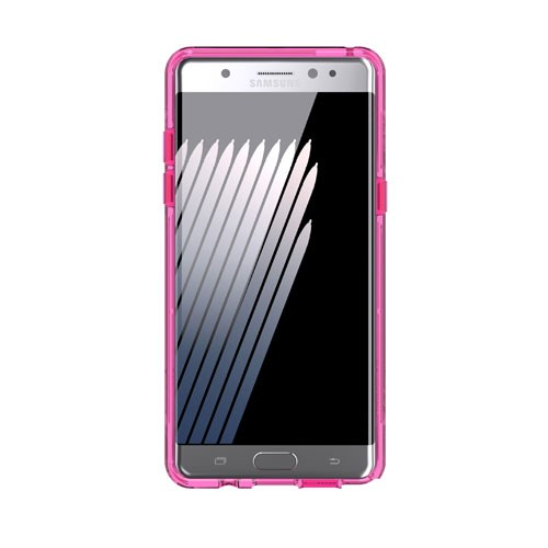 Griffin Survivor Clear Case for Galaxy Note FE - Pink White Clear