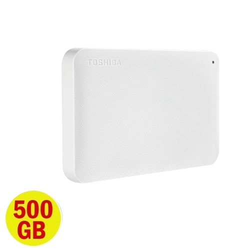 Toshiba Canvio Ready 3.0 Portable Hard Drive 500GB - White