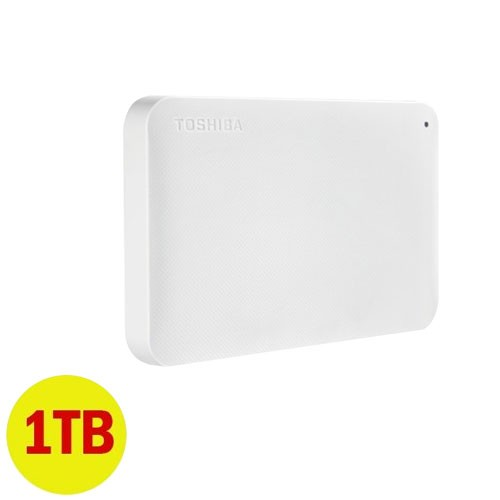 Toshiba Canvio Ready 3.0 Portable Hard Drive 1TB - White