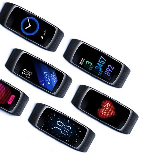 Samsung Gear Fit2 Short Strap - Blue