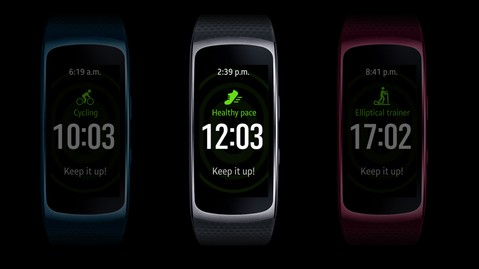 Samsung Gear Fit2 Short Strap - Pink