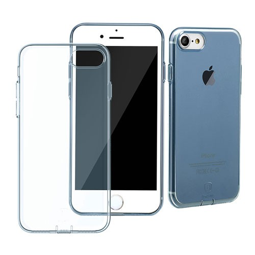 Baseus Simple Series Case for iPhone 7 (With-Pluggy) - Transparent Blue