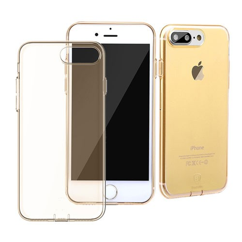 Baseus Simple Series Case for iPhone 7 Plus (With-Pluggy) - Transparent Gold