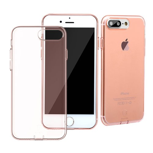 Baseus Simple Series Case for iPhone 7 Plus (With-Pluggy) - Transparent Rose Gold
