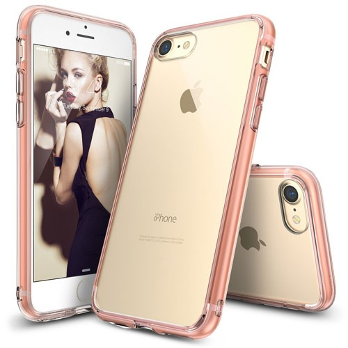 Rearth Ringke Fusion for iPhone 8 / iPhone 7 - Rose Gold