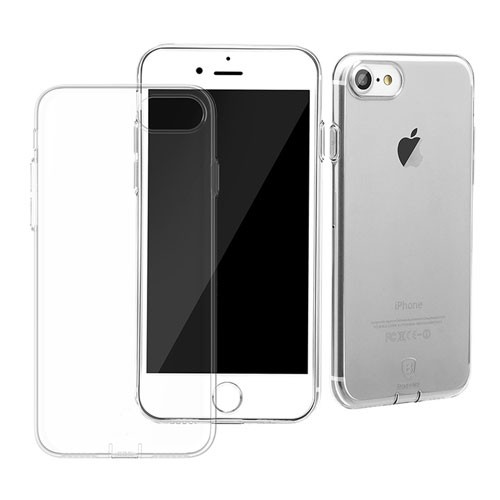 Baseus Simple Series Case for iPhone 7 (With-Pluggy) - Transparent