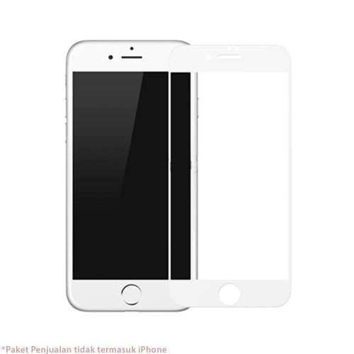 Baseus 0.2mm silk screen printed full-screen protector for iPhone 7 - White