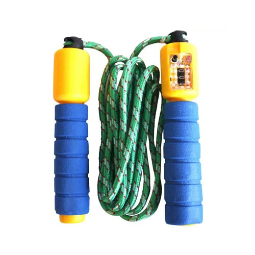 Jumping Rope Skipping Colorful  9 feet (Tali Lompat) - Blue Yellow