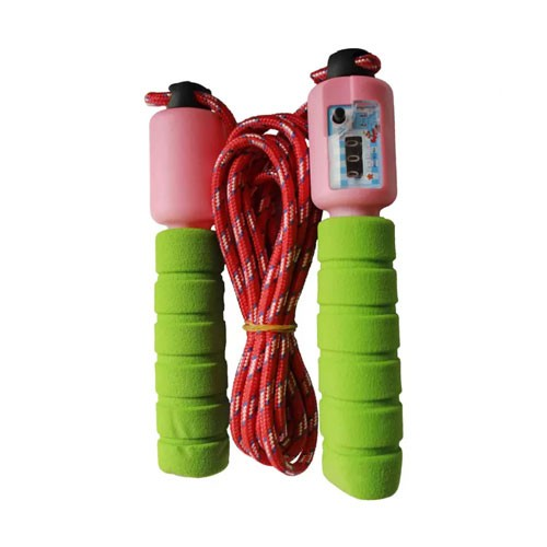 Jumping Rope Skipping Colorful  9 feet (Tali Lompat) - Green Pink