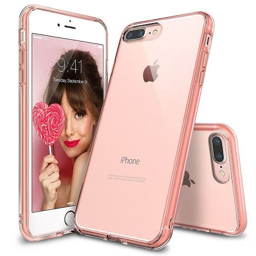 Rearth Ringke Fusion for iPhone 8 Plus / iPhone 7 Plus - Rose Gold