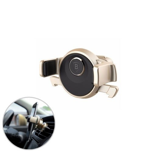 Baseus Mechanics Times Car Mount for Smartphone - Gold