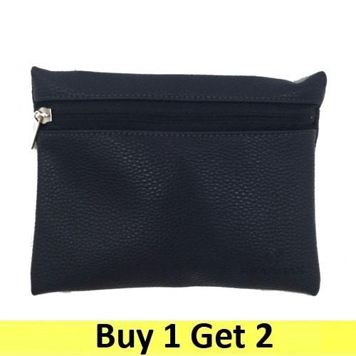 Gearmax Multi-purpose Pouch Side Zipper Synthetic Leather - Blue Navy (2 pc)