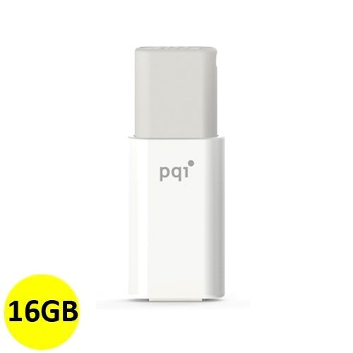 PQI Fashionable Flash Disk U176L 16GB - Gray/White