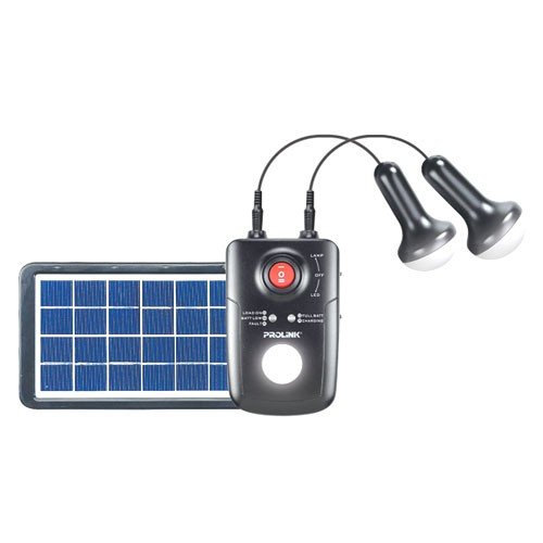 Prolink Portable Solar Light with 2 LED bulbs 4M cables - PPS80M