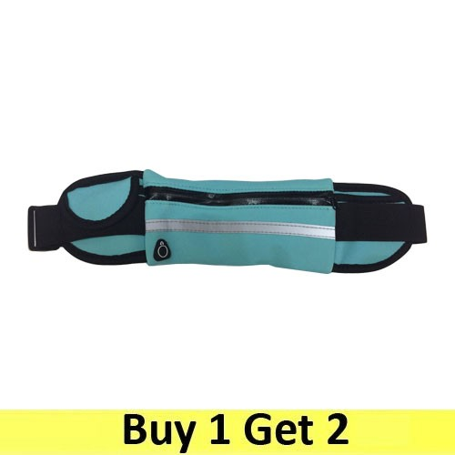Running Belt Waist Pack Sport Sweatproof - Blue (2 pc)