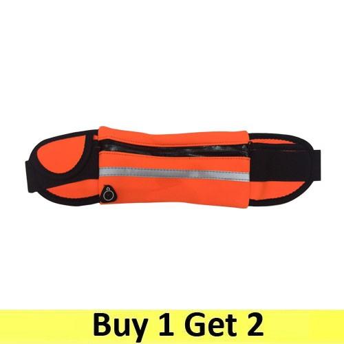 Running Belt Waist Pack Sport Sweatproof - Orange (2 pc)