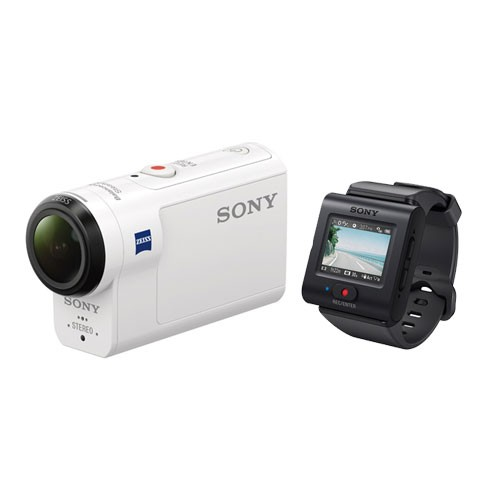 Sony Action Camera HDR-AS300R With Live-View Remote Kit - White