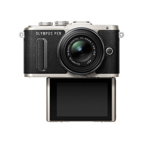 Olympus PEN E-PL8 Mirrorless Digital Camera with 14-42mm EZ Lens - Black