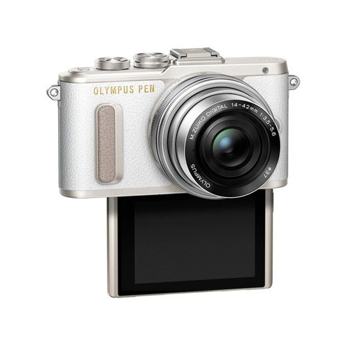 Olympus PEN E-PL8 Mirrorless Digital Camera with 14-42mm EZ Lens - White