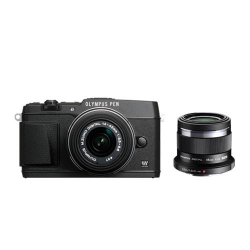 Olympus PEN E-P5 Mirrorless Digital Camera 1442 with 45mm f/1.8 Lens - Black