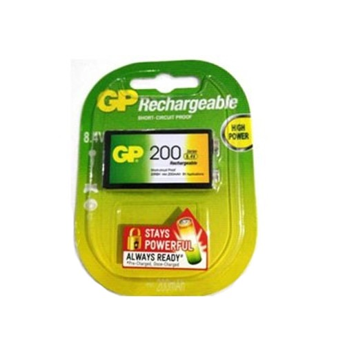 GP Batteries Rechargeable 9V 200Mah