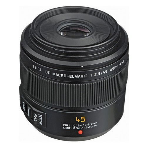 Panasonic Lensa Leica DG Macro-Elmarit 45mm - H-ES045E