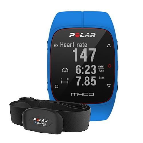 Polar GPS Sports Watch & Activity Tracker M400 HR - Blue