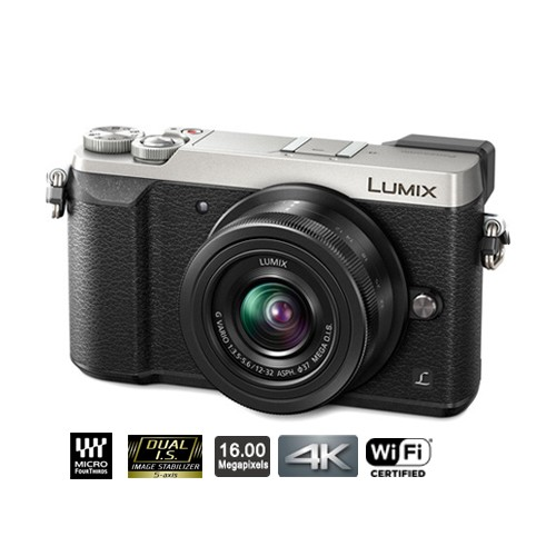 Panasonic Lumix Mirrorless Digital Camera with 12-32mm Lens GX85 - Silver