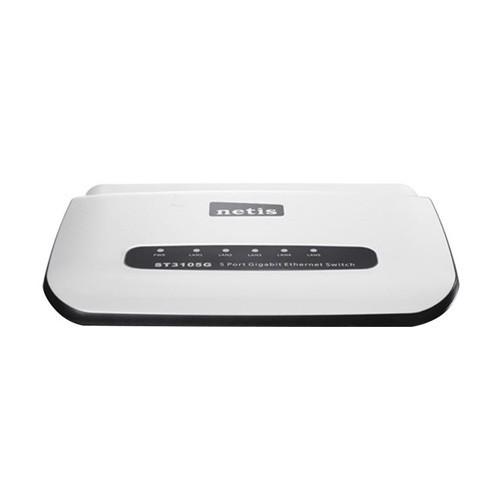 Netis Unmanaged Switch 5 Port Gigabit Ethernet Switch, Plastic Housing - ST3105G