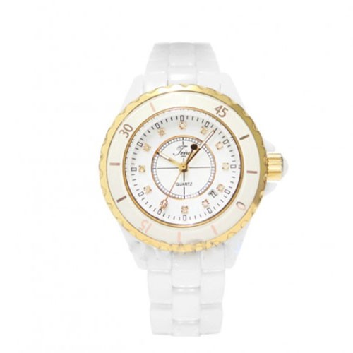 Teiwe Ceramic Rose Gold Small White TW2909G-LW