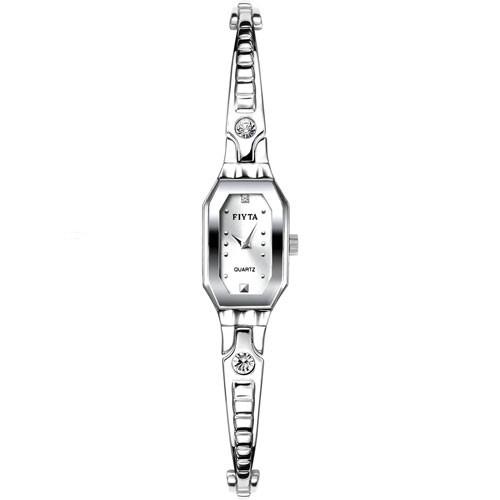Fiyta Exquisite Lady Quartz SS Square Case SS Bracelet (L501.WWW)