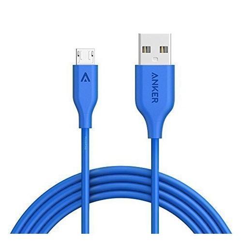 Anker PowerLine Micro USB 6ft V3 A8133H31 - Blue