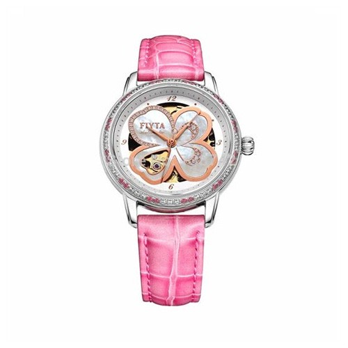 Fiyta Photographer Lady Automatic SS (DLA8262.WWSD) - Pink Calf Leather