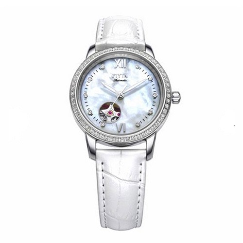 Fiyta Photographer Lady Automatic SS White Leather (LA8366.WWWD)
