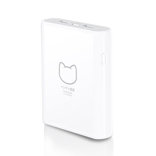 Probox Sanyo Power Bank 10.400 mAh Max NekoMonogatori HE7-10KU2L - White