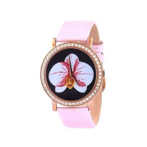Teiwe Fiore TW3001-G - Rose Gold Pink Leather