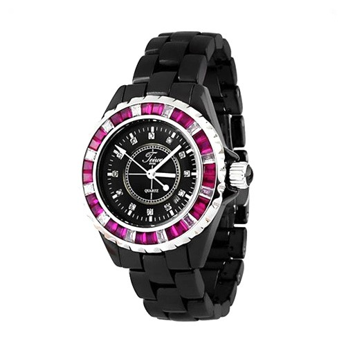 Teiwe All New Ceramic Small TW5003DS-B05L -  Black Combination Red