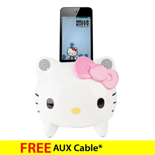 Speaker Dock iPod / iPhone Hello Kitty KT1 - White